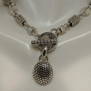 Jewelry - Heavy Silver Dot Bali Style Statement Necklace